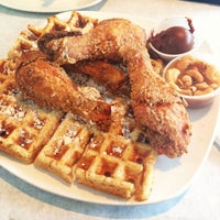 Photo taken at Dame's Chicken & Waffles by Morghen J. on 4/11/2014