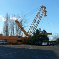 Photo taken at The Big Yellow Crane by David R. on 1/11/2013