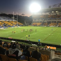 Photo taken at Mt Smart Stadium by Cameron M. on 4/11/2015