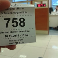 Photo taken at Türkiye İş Bankası by Engin A. on 11/26/2014