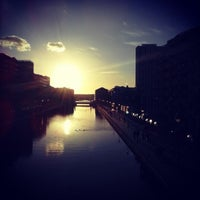 Photo taken at Canal de l'Ourcq by Nicolas C. on 6/29/2013