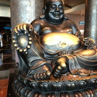 Photo taken at Big Buddah Statue at ARIA by Darcie L. on 9/9/2013