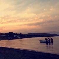 Photo taken at karapinar plaj by Gülin Deniz B. on 7/9/2016