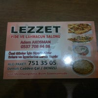 Photo taken at Lezzet Pide & Lahmacun by Ibrahim Kemal H. on 4/23/2013