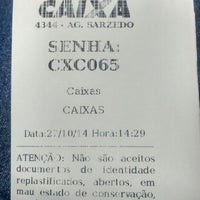 Photo taken at Caixa Econômica Federal by Alvino S. on 10/27/2014