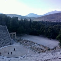 Photo taken at Epidaurus Ancient Theatre by Maarten P. on 2/14/2017