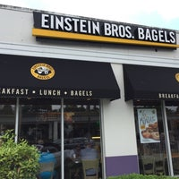 Photo taken at Einstein Bros Bagels by Michel K. on 4/24/2016