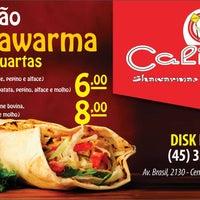 Photo taken at Califas - shawarmas e esfihas by Felipe B. on 10/14/2014