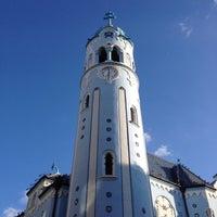 Photo taken at Kostol sv. Alžbety (The Blue Church) by Anna P. on 5/4/2014