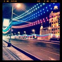 Photo taken at Bolshoy Kamenny Bridge by Илья С. on 12/22/2012