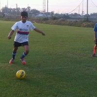 Photo taken at สนามบุญมาฟุตบอลคลับ by Book R. on 10/31/2012