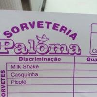 Photo taken at sorveteria paloma by Thiago B. on 2/2/2014
