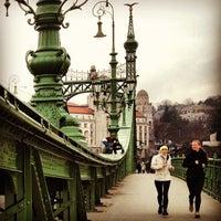 Photo taken at Liberty Bridge by Murat Eray K. on 3/13/2013