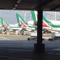 """Photo taken at Alitalia Freccia Alata Lounge """"Bramante"""" by Tasos K. on 1/19/2015"""