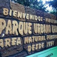 Photo taken at Parque Urbano Kabah by Rodrigo R. on 1/14/2013