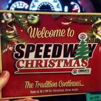 Photo taken at Charlotte Motor Speedway Christmas Light Show by Jody F. on 12/21/2013
