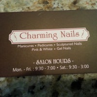 Photo taken at Charming Nails by Jasmine C. on 5/23/2014