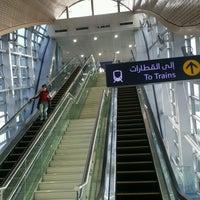 Photo taken at Emirates Metro Station محطة مترو طيران الإمارات by Molefi S. on 1/19/2017