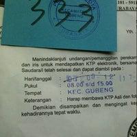 Photo taken at Sekretariat Kecamatan Gubeng by chita h. on 10/1/2012