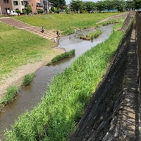 Photo taken at 三沢川親水公園 by Watalu Y. on 5/3/2018