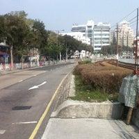 Photo taken at San Wai Tsai Bus Stop 新圍仔巴士站 by Milton H. on 1/19/2014