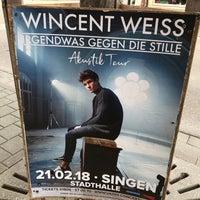 Photo taken at Singen (Hohentwiel) by emojischwein on 2/21/2018