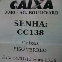 Foto tirada no(a) Caixa Econômica Federal por Bruno S. em 1/4/2013
