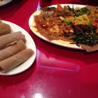 Photo taken at Abyssinia Ethiopian & Eritrean Restaurant by R. Andre C. on 1/25/2014