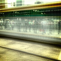 Photo taken at Tram Stop 13 - Federation Square (3/3a/5/6/16/64/67/72) by Lee A. on 10/18/2012