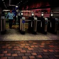 Photo taken at 7th St/Metro Center (Julian Dixon) Metro Station by Lee A. on 11/25/2012