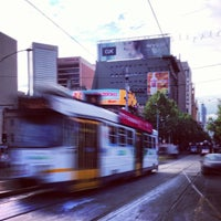 Photo taken at Tram Stop 13 - Federation Square (3/3a/5/6/16/64/67/72) by Lee A. on 10/9/2012