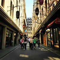 Photo taken at Degraves Street by Lee A. on 10/28/2012