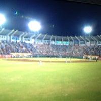 Photo taken at Estadio Nelson Barrera Romellón by Omar F. on 4/21/2012
