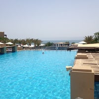 Photo taken at Dead Sea Beach (Holiday Inn Resort) by Gil O. on 5/24/2012