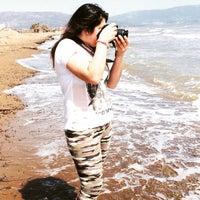 Photo taken at Çiçek Plajı by berivan t. on 4/19/2015