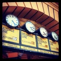 Photo taken at Flinders Street Station by David G. on 11/10/2012