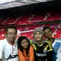 Photo taken at Old Trafford Stadium, Tangerang by Abdullah Chairul A. on 5/5/2013
