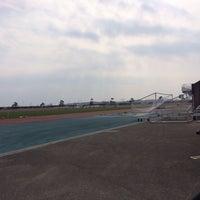 Photo taken at 宮崎市生目の杜運動公園陸上競技場 by たれぱんだ号の主 on 2/22/2014