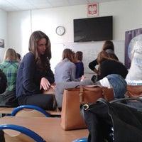 Photo taken at IX LO im. Klementyny Hoffmanowej by Natalia W. on 12/12/2014