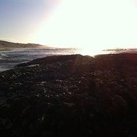 Photo taken at Sardinia Bay Beach by Richard W. on 1/5/2013