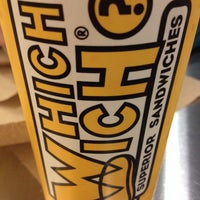 Photo taken at Which Wich? Superior Sandwiches by Amy R. on 1/12/2014