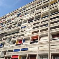 Photo taken at Cité Radieuse Le Corbusier by Idris H. on 7/14/2013