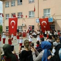 Photo taken at Şehit Bilal Kanat Ortaokulu by Şeyma B. on 4/23/2016