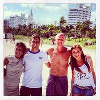Photo taken at Miami Beach by Micaela M. on 1/17/2013