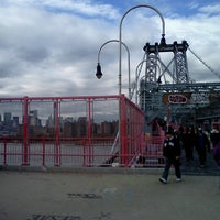 Photo taken at Williamsburg Bridge Pedestrian & Bike Path by Michael R. B. on 10/31/2012