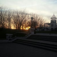 Photo taken at James Riehle Plaza by Valentin S. on 11/29/2012