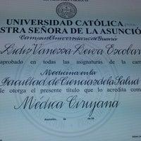 Photo taken at Rectorado Universidad Catolica Asuncion by Vanessa L. on 1/23/2015