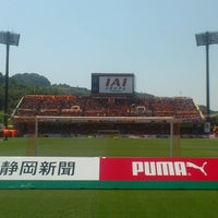 Photo taken at IAI Stadium Nihondaira by Madomado11 on 5/6/2013