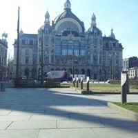 Photo taken at Koningin Astridplein by Katrien R. on 3/27/2013