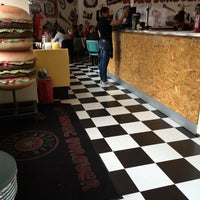 Photo taken at American Music Burger by Adriano M. on 6/6/2014